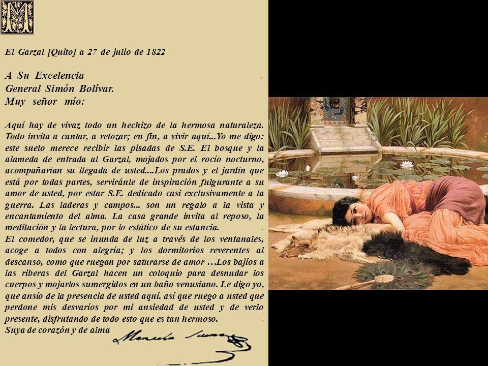 El Garzal [Quito] a 27 de julio de 1822. A Su Excelencia
